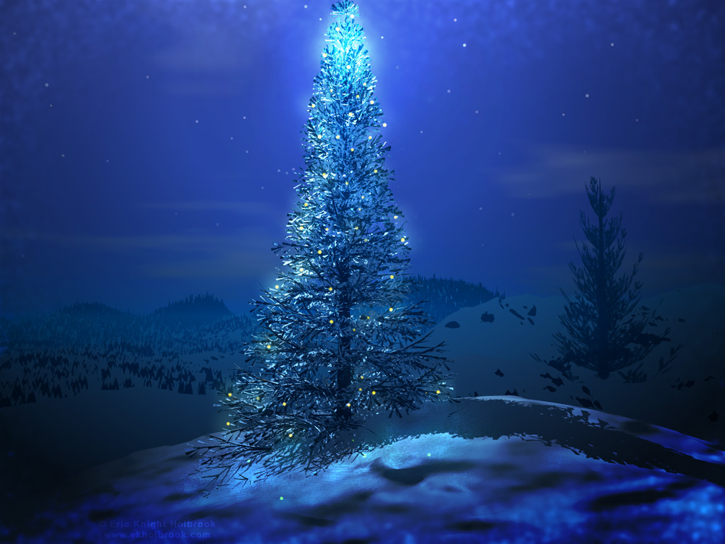 Merry Christmas to All Blue Christmas Wallpaper