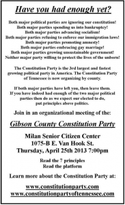 Constitution Party of Gibson County