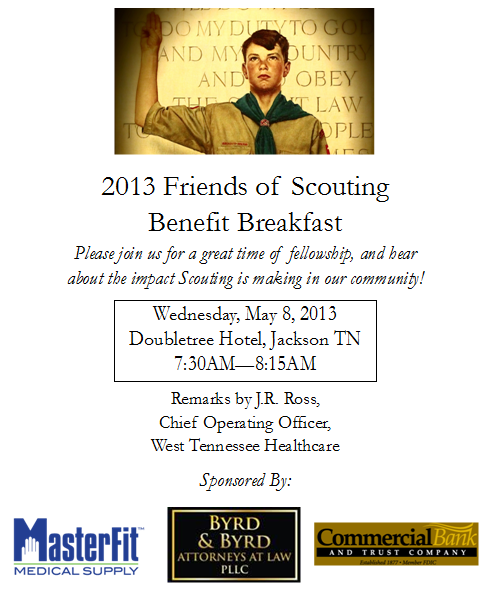 2013 Friends of Scouting Benefit Breakfast