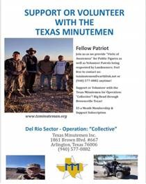 Texas Minutemen – need your help