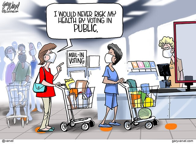Mail in Voting by Gary Varvel